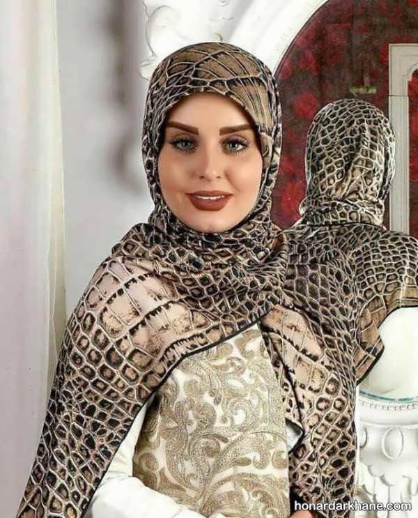 انواع زیبا و شیک روسری نخی