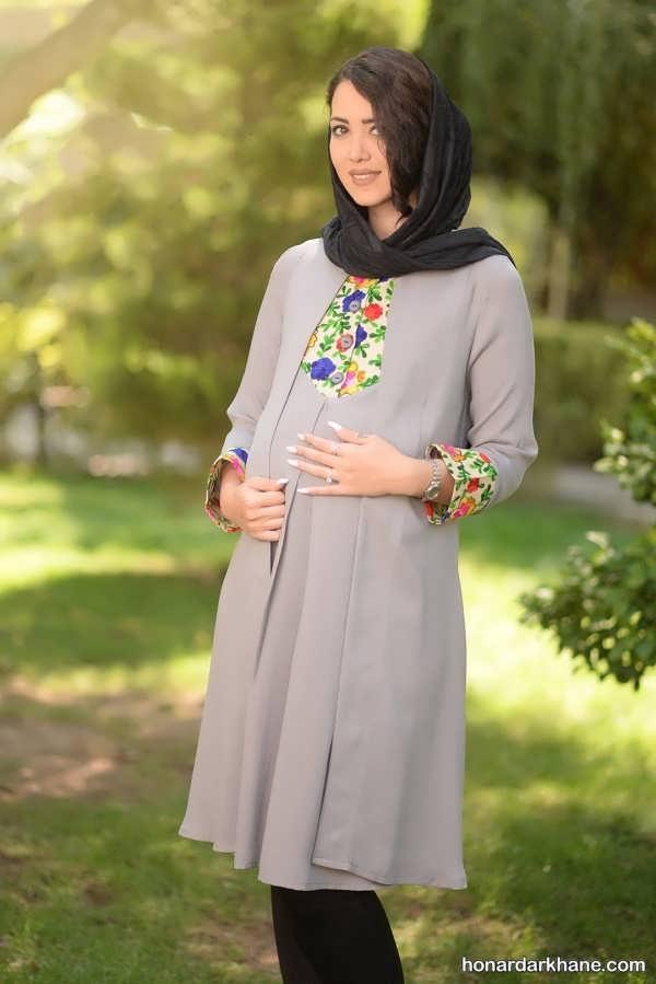 32 مدل مانتو بارداری شیک و جدید با طرح های خاص