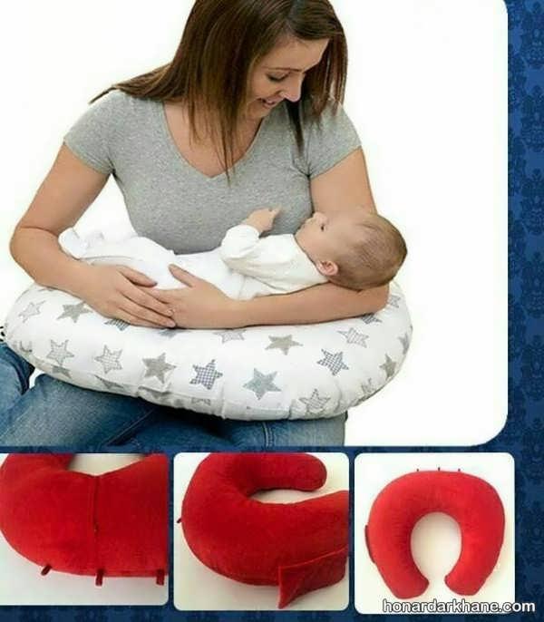 نحوه دوختن بالش شیر دادن به نوزاد