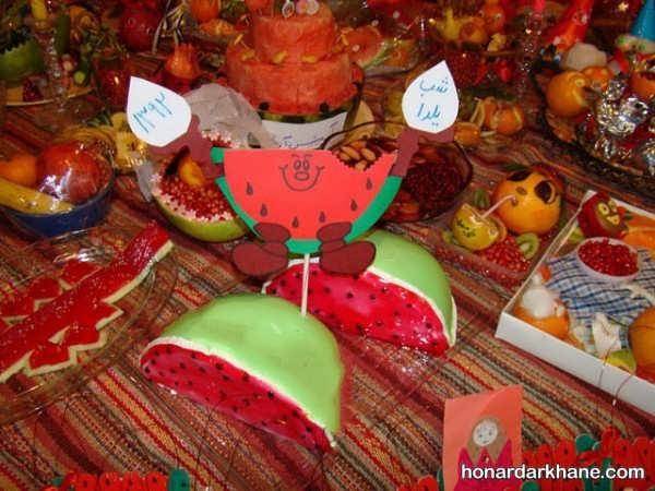 انواع مختلف تزیین میز در مدارس برای جشن یلدا