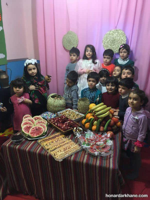 مدل های مختلف تزیینات مدارس برای جشن یلدا
