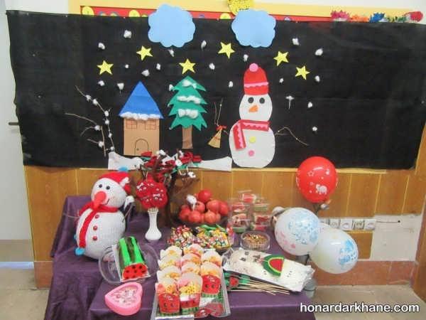 انواع جذاب تزیینات در مدارس برای جشن یلدا