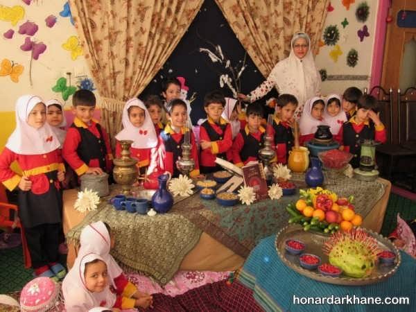 مدل های مختلف تزیین مدرسه برای جشن یلدا