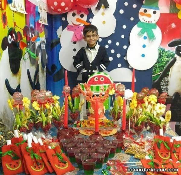 انواع مختلف تزیین مدرسه برای جشن یلدا