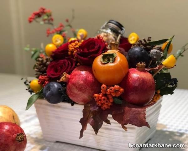 تزیین میوه با گل طبیعی