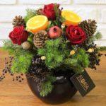 تزیین میوه با گل