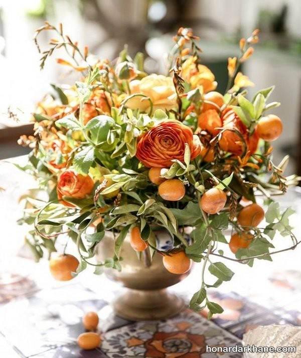 تزیین میوه داخل گلدان