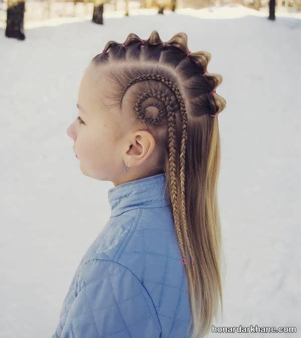 انواع مدل مو خاص و جالب دخترانه