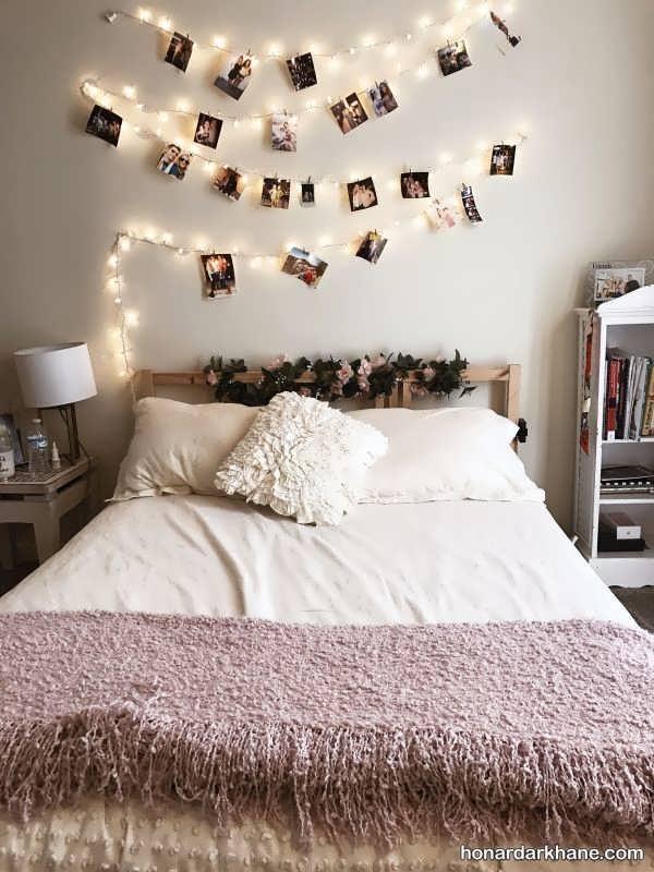انواع دیزاین اتاق خواب با ریسه