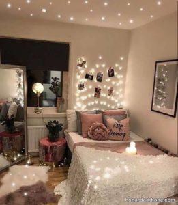 انواع دکوراسیون خاص اتاق خواب با ریسه