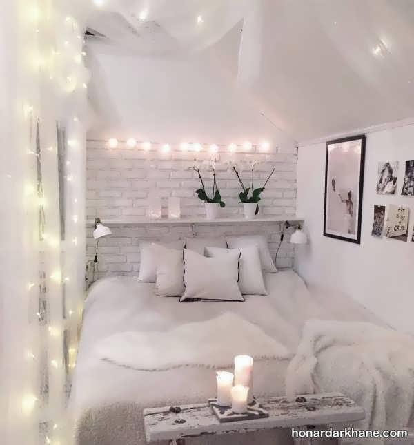 انواع دیزاین شیک و جالب اتاق خواب با ریسه