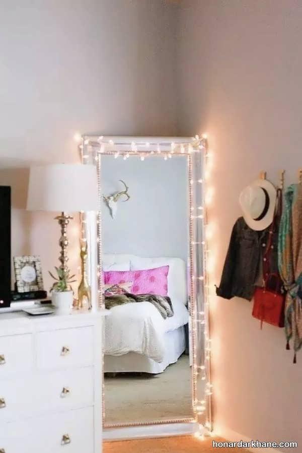 انواع دیزاین زیبا و شیک اتاق خواب با ریسه نور