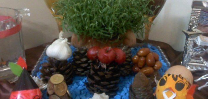 انواع مختلف تزیین هفت سین با کاج