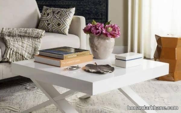 انواع تزیین شیک و خاص میز جلو مبلی