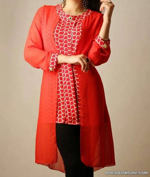 انواع لباس پذیرایی دخترانه زیبا برای عید