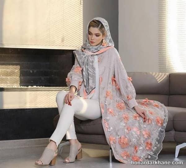 انواع مانتو گلدار خاص و جذاب بری عید 99