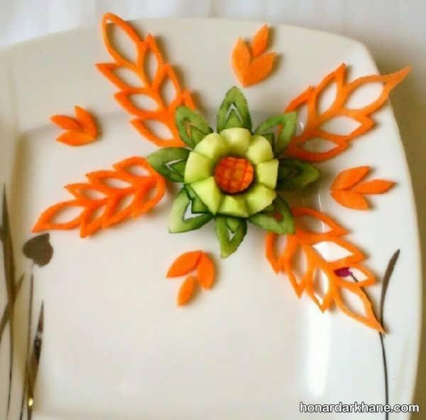 انواع دورچین بشقاب با سبزیجات