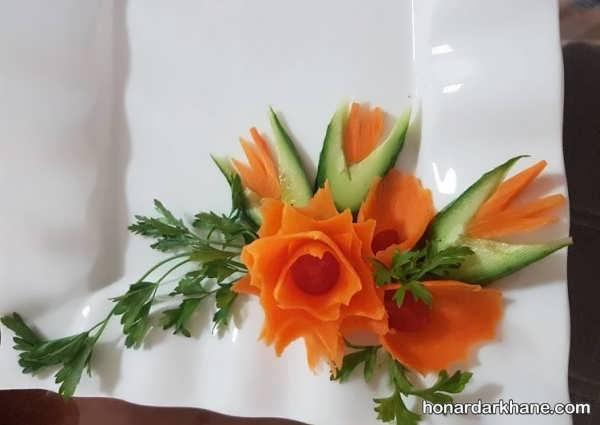 انواع دیزاین جالب و زیبا بشقاب غذا