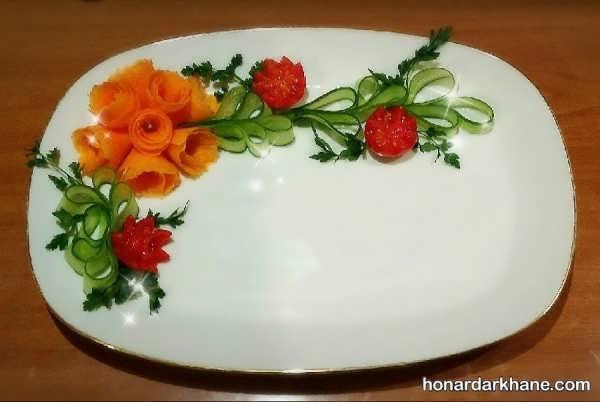 انواع دیزاین بشقاب غذا با سبزیجات