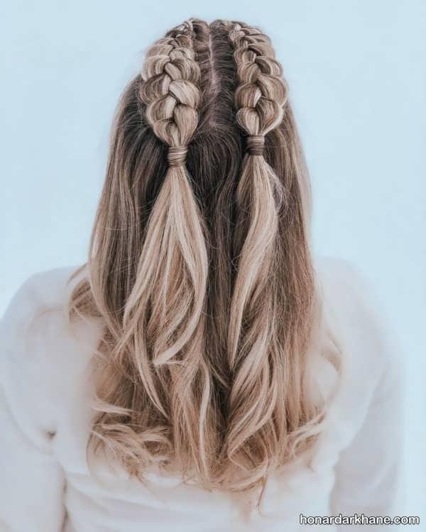 انواع بافت مو کوتاه دخترانه
