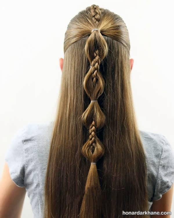 مدل های جدید و زیبا بستن مو دخترانه