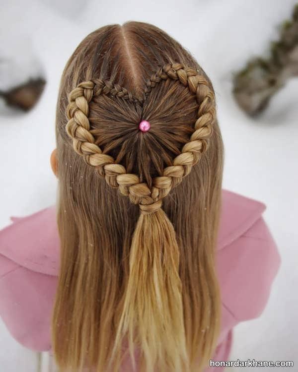 انواع بافت مو تیغ ماهی دخترانه