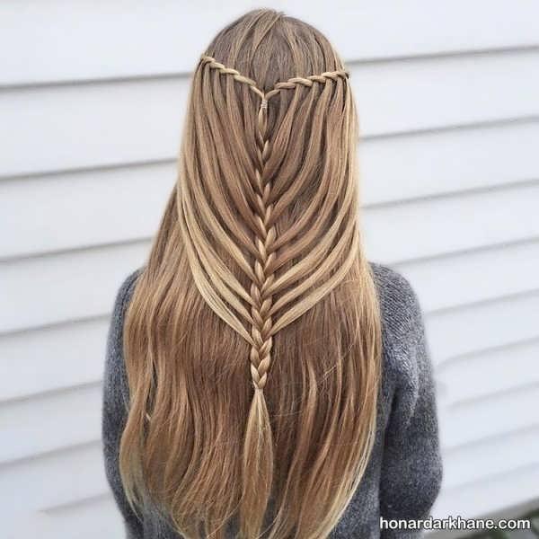 انواع بافت مو آبشاری زیبا