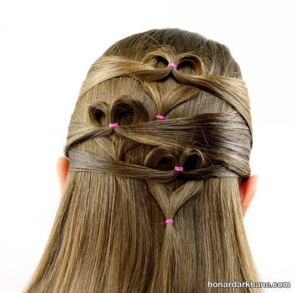 انواع بافت مو آبشاری دخترانه