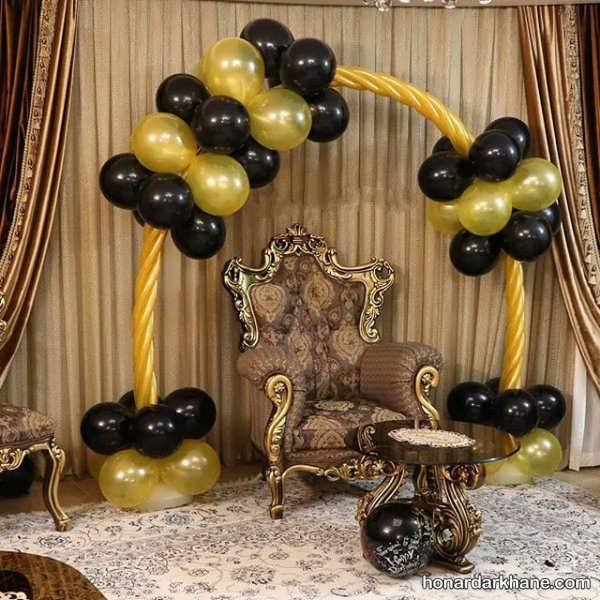 انواع تزئینات شیک جشن تولد با تم سیاه و طلایی
