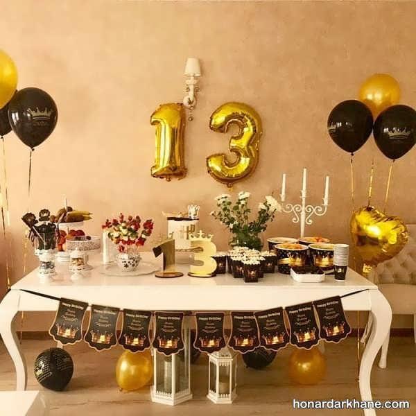 انواع برگزاری مراسم تولد با تم مشکی طلایی