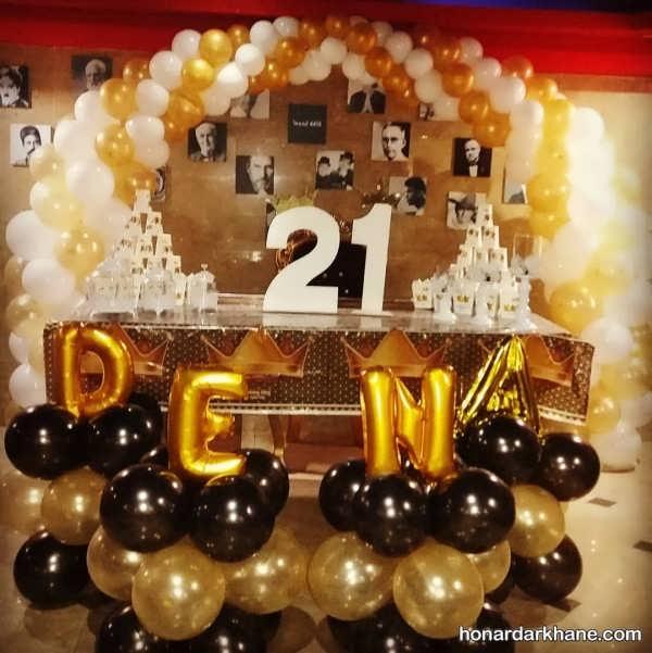 انواع محیط آرایی جشن تولد با تم سیاه و طلایی