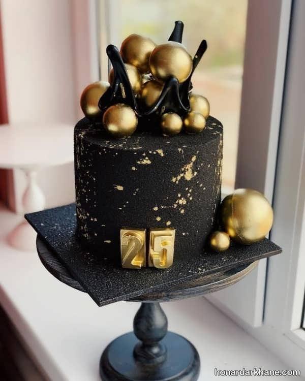 انواع دیزاین جشن تولد با زمینه طلایی و مشکی