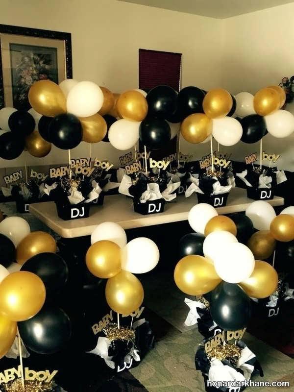 انواع برپایی جشن تولد با تم طلایی و سیاه