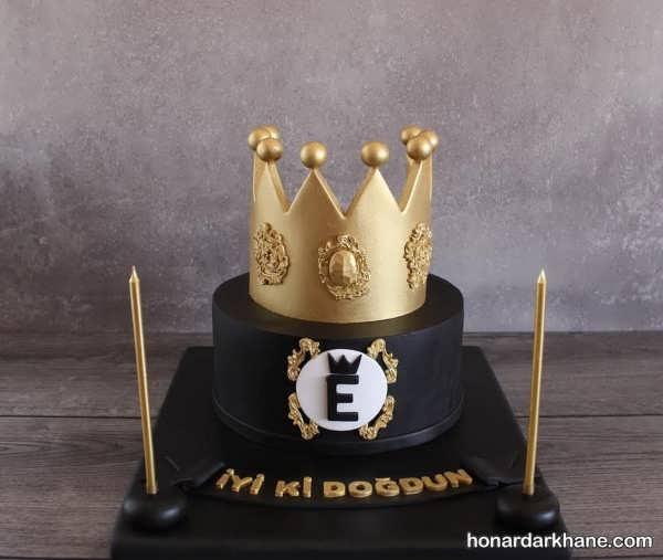 تم مشکی طلایی برای جشن تولد