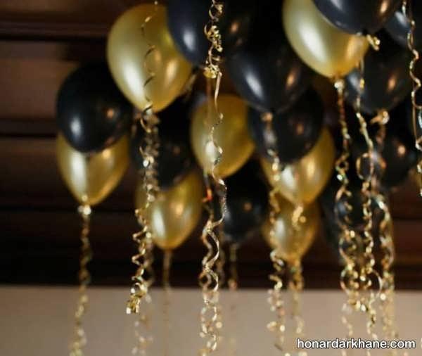 انواع برگزاری جشن تولد با تم تولد مشکی طلایی