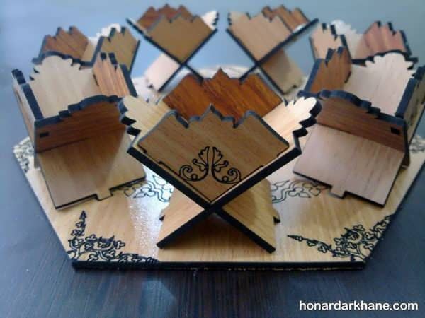انواع هفت سین جالب چوبی برای سال نو