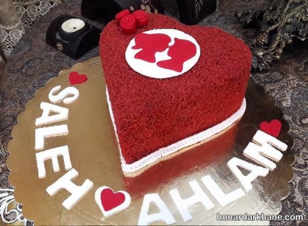 دستور پخت کیک ولنتاین
