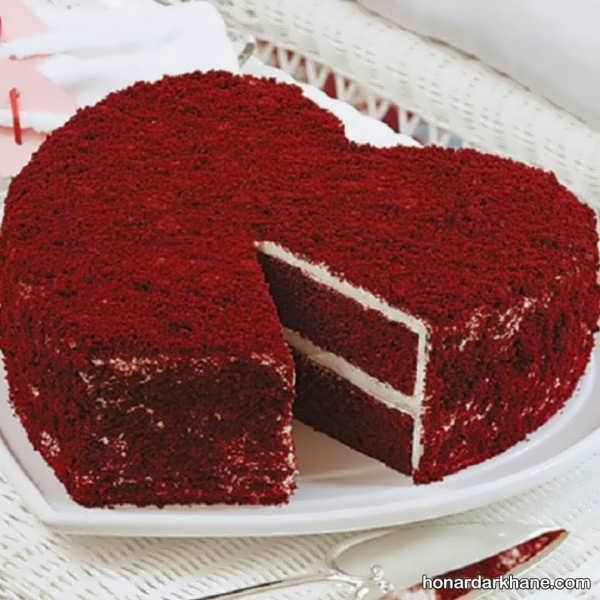 روش پخت کیک ولنتاین