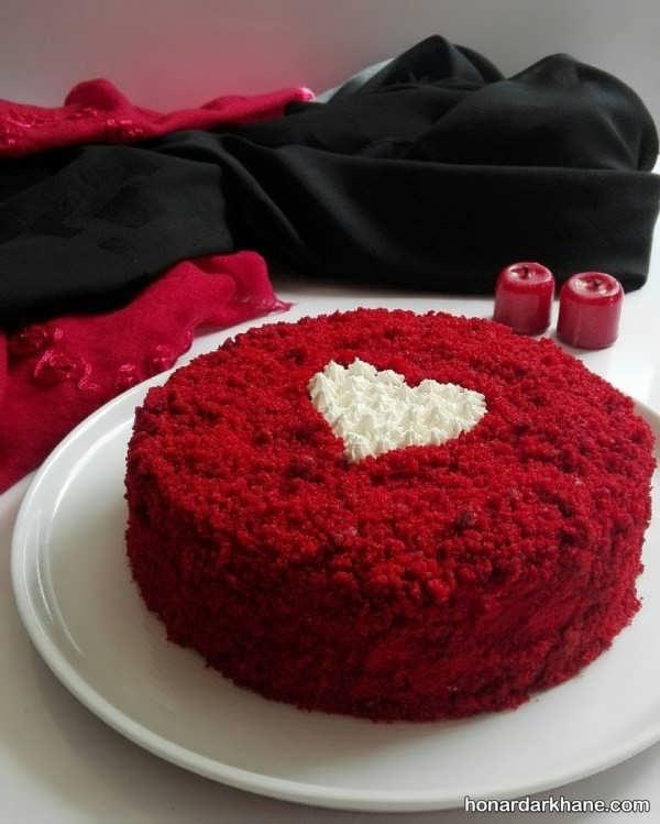 دستور پخت کیک ولنتاین با طعمی خوشمزه
