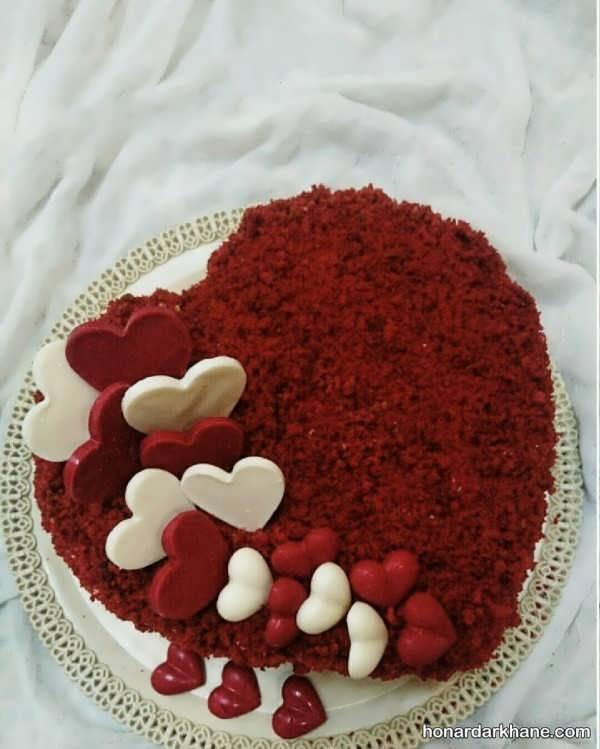 طرز تهیه کیک ولنتاین