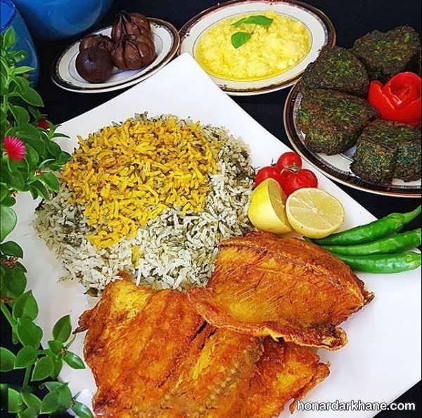 روش تهیه سبزی پلو با ماهی