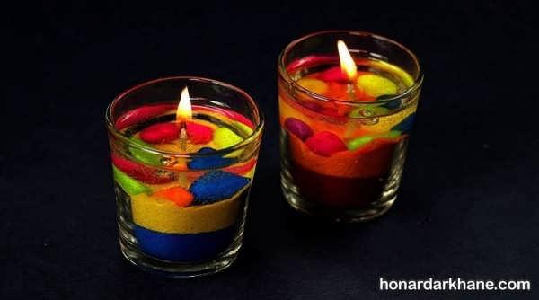 نحوه درست کردن شمع ژله ای بدون حباب