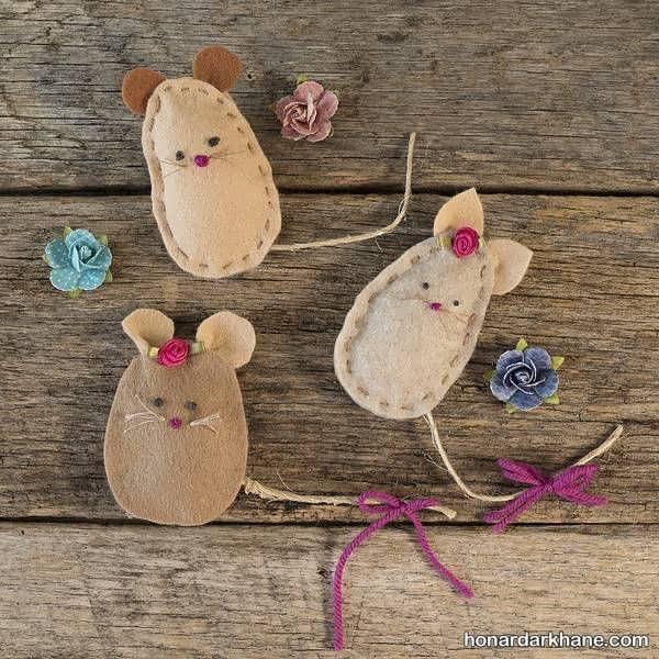 مدل های مختلف کارهنری به شکل موش