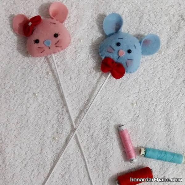 ساخت کاردستی کودکانه موش