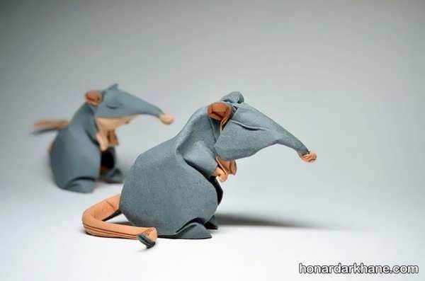 ساخت صنایع دستی موش با هنر اوریگامی