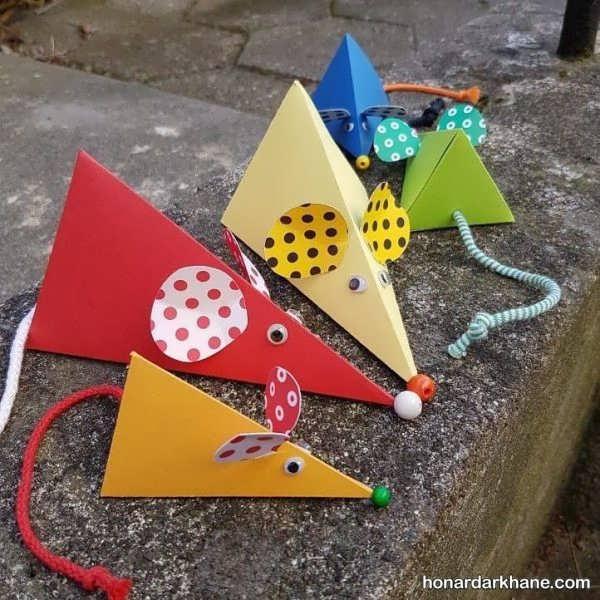 انواع هنردستی کودکانه به شکل موش