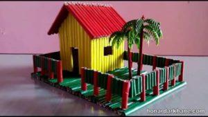 ساخت ماکت خانه با چوب بستنی