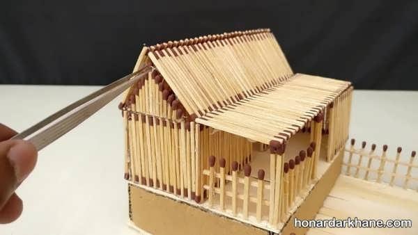 انواع کارهنری با چوب کبریت