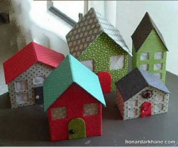 ساخت کاردستی خانه و کلبه به شکل های مختلف