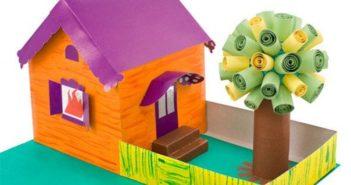 ساخت کاردستی خانه به شکل های مختلف